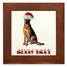 German Shepherd Christmas Framed Tile