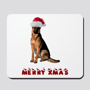 German Shepherd Christmas Mousepad