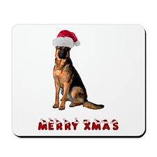 German Shepherd Christmas Mousepad
