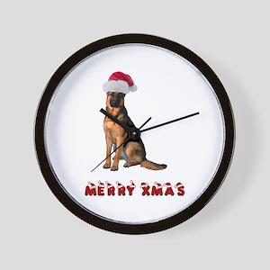 German Shepherd Christmas Wall Clock