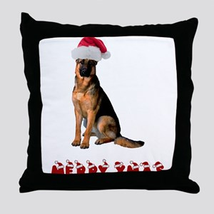 German Shepherd Christmas Throw Pillow