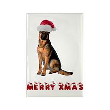 German Shepherd Christmas Rectangle Magnet