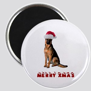 German Shepherd Christmas Magnet