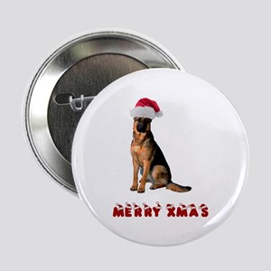 "German Shepherd Christmas 2.25"" Button"