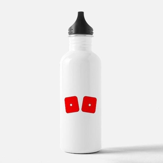 Red Dice Snake Eyes Water Bottle