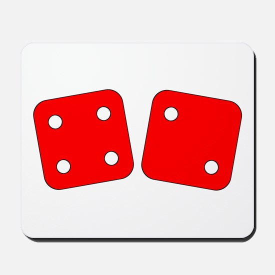 Red Dice Four Two Mousepad