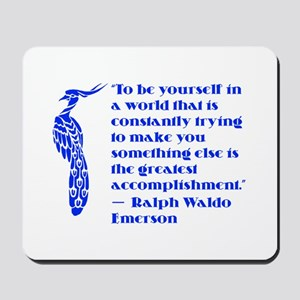 Peacock Quote Mousepad