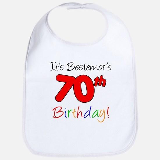Bestemors 70th Birthday Bib