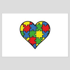 Autism Puzzle Large Poster