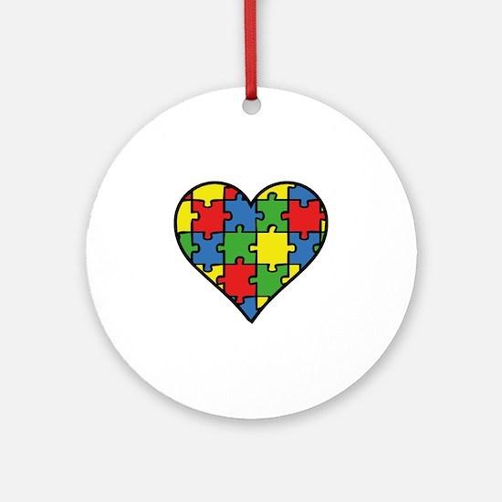Autism Puzzle Ornament (Round)