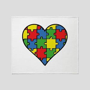 Autism Puzzle Stadium Blanket