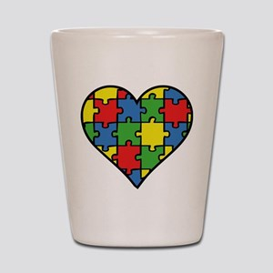 Autism Puzzle Shot Glass