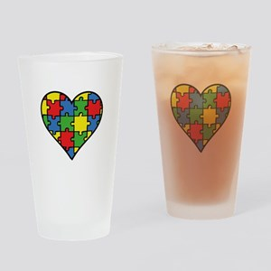 Autism Puzzle Drinking Glass