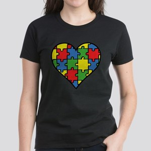 Autism Puzzle Women's Dark T-Shirt