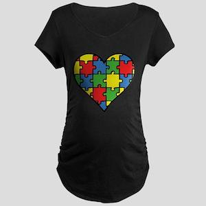 Autism Puzzle Maternity Dark T-Shirt