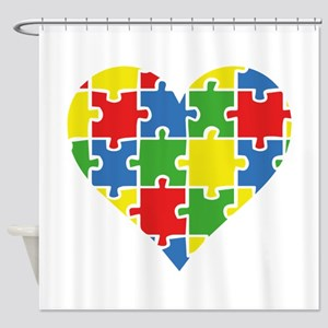 Autism Puzzle Shower Curtain
