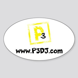 P3 Productions (Black) Sticker