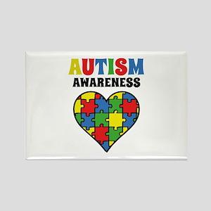Autism Puzzle Rectangle Magnet
