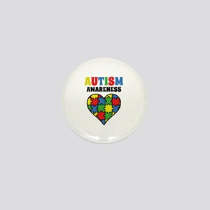 Autism Puzzle Mini Button