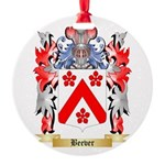 Beever Round Ornament