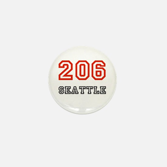Area Code Button Area Code Buttons Pins Badges - 206 area code