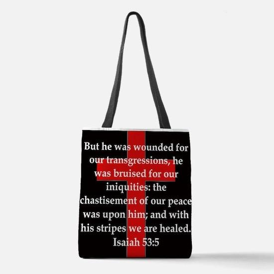 Isaiah 53:5 Polyester Tote Bag