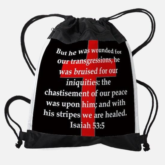 Isaiah 53:5 Drawstring Bag