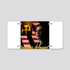Cuomo the Tyrant Aluminum License Plate