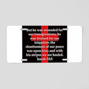 Isaiah 53:5 Aluminum License Plate