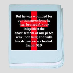 Isaiah 53:5 baby blanket