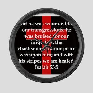 Isaiah 53:5 Large Wall Clock