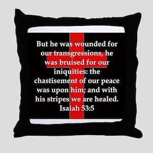 Isaiah 53:5 Throw Pillow