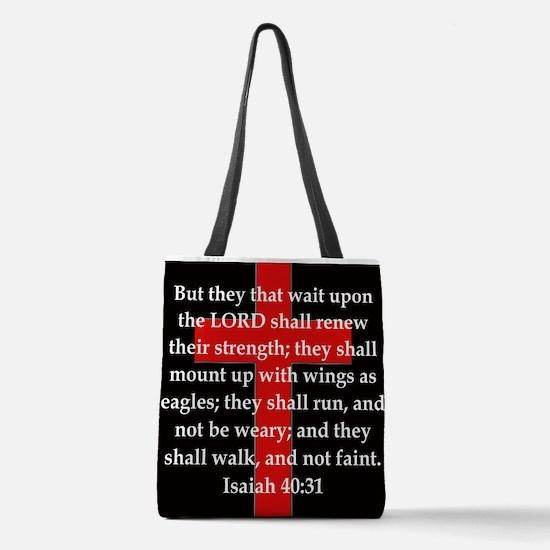 Isaiah 40:31 Polyester Tote Bag