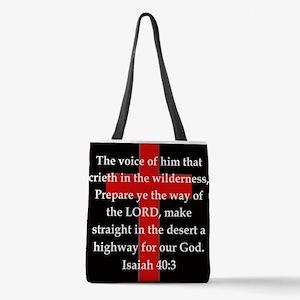 Isaiah 40:3 Polyester Tote Bag