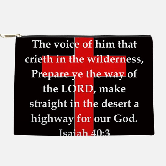Isaiah 40:3 Makeup Pouch