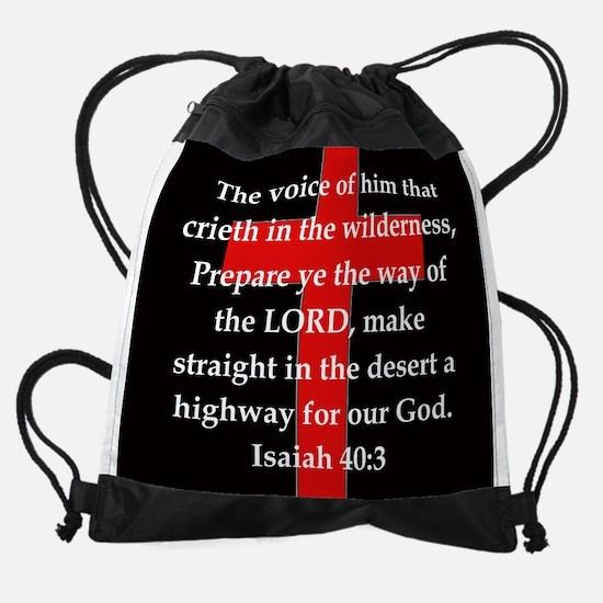Isaiah 40:3 Drawstring Bag