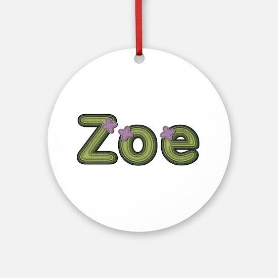 Zoe Spring Green Round Ornament