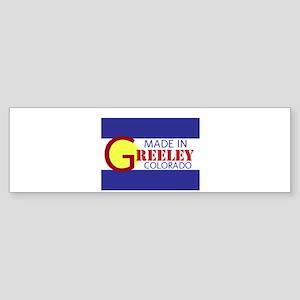 MADE IN GREELEY Bumper Sticker