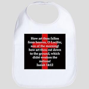 Isaiah 14:12 Cotton Baby Bib