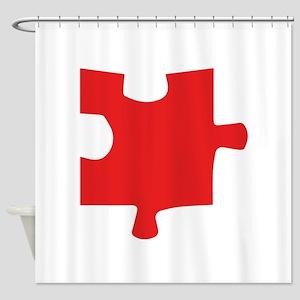 Autism Puzzle Piece Shower Curtain