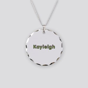 Kayleigh Spring Green Necklace Circle Charm