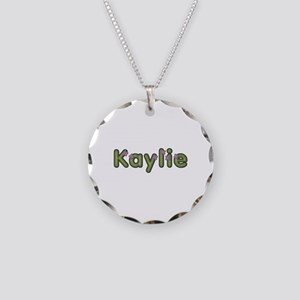 Kaylie Spring Green Necklace Circle Charm