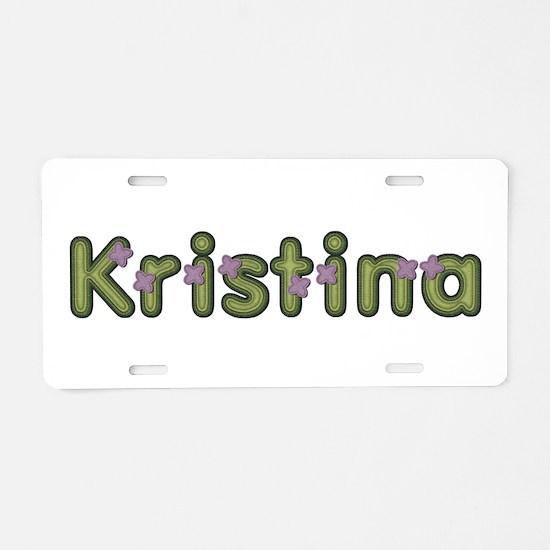 Kristina Spring Green Aluminum License Plate