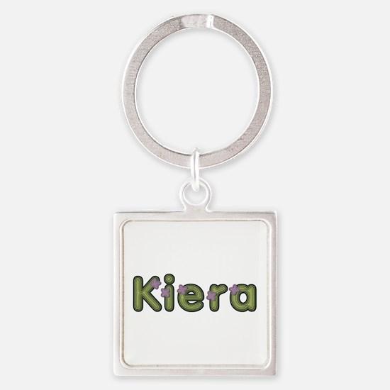 Kiera Spring Green Square Keychain