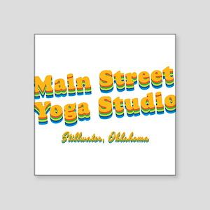 "Main Street Yoga Studio ""Retro Rainbow"" Square Sti"