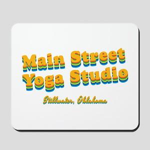 "Main Street Yoga Studio ""Retro Rainbow"" Mousepad"