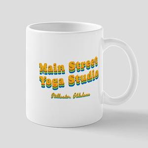 "Main Street Yoga Studio ""Retro Rainbow"" Mug"