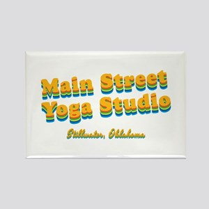 "Main Street Yoga Studio ""Retro Rainbow"" Rectangle"