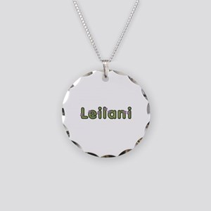 Leilani Spring Green Necklace Circle Charm