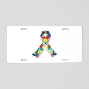 Autism Awareness Ribbon Aluminum License Plate